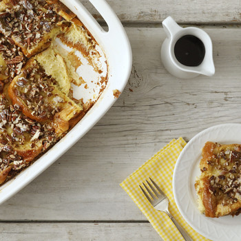 Baked French Bread with Sugared Pecans