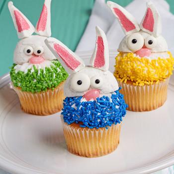 Simple, Cute Bunny Cupcakes