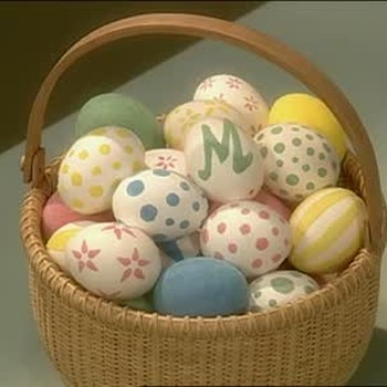 Flocked Easter Egg Shells