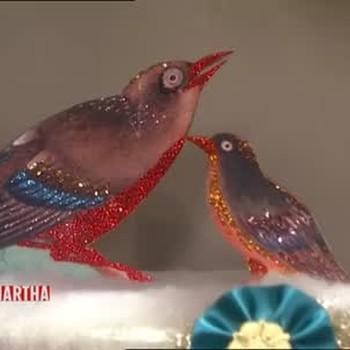 Glittery Bird Decorations