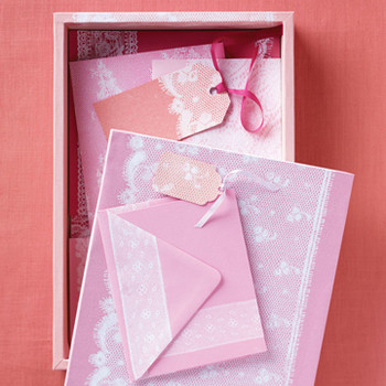 Lace-Print Stationery