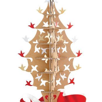 Cardboard Holiday Tree