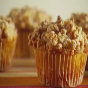 Pear and Granola Muffins.