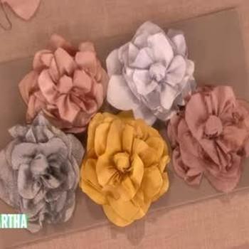 Silk Lotus Flower Squares