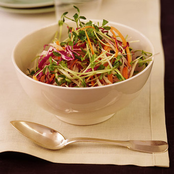 Crunchy Sprout and Daikon Salad with Mint