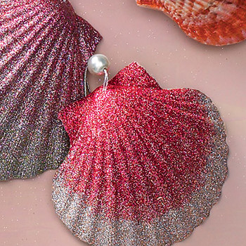 Natural Shell Ornament with Pearl