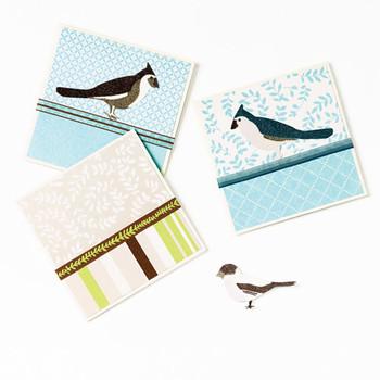 Glittered Bird Cards
