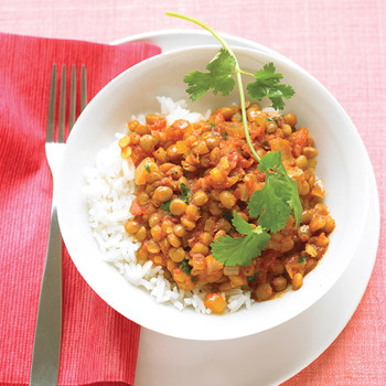 Quick Curried Lentils in Tomato Sauce