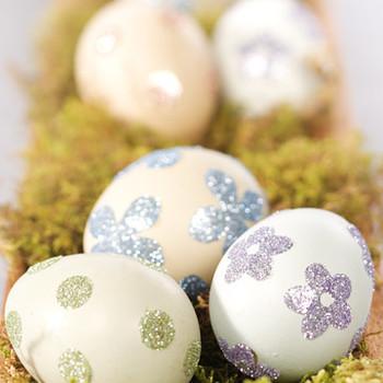 Glittered Sticker Eggs