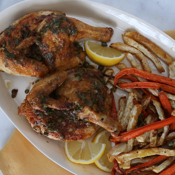 Roasted Cornish Game Hens with Mustard-Tarragon Sauce Video