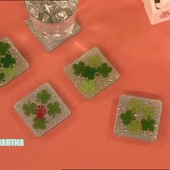 How to Make Clover Coasters