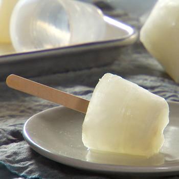 Lime-Honey Ice Pops