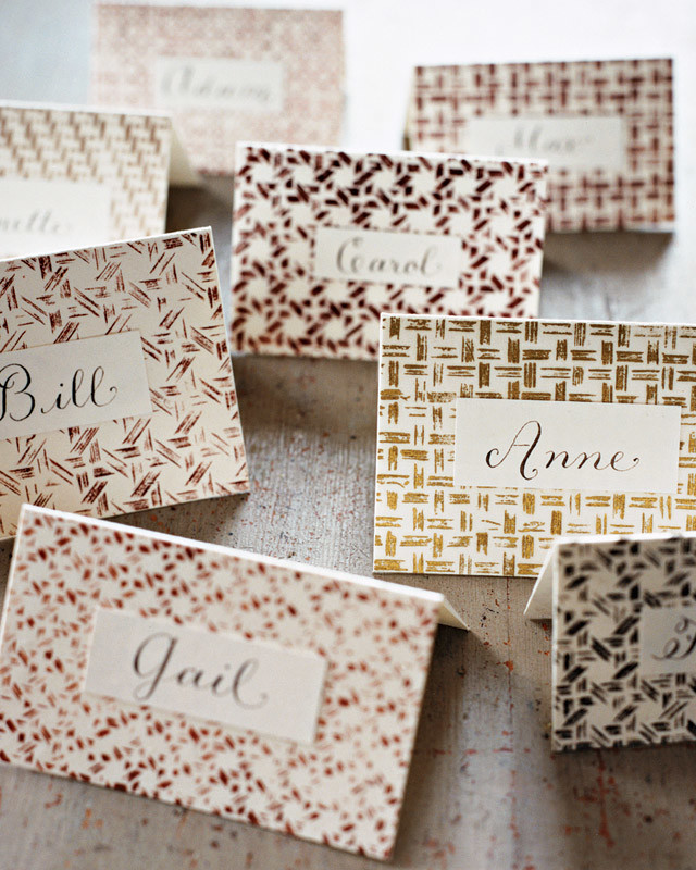 Basket-Weave Place Cards