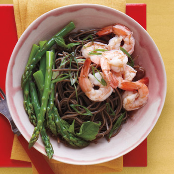 Soba Salad with Asparagus and Shrimp
