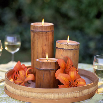Bamboo Candles