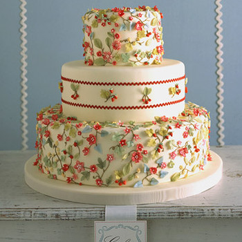 Cakes Inspired by Fabric: Calico