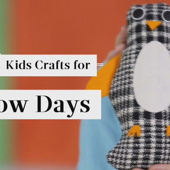 5 Kids Crafts for Snowy Days