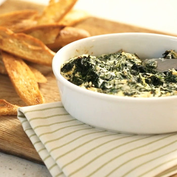 Baked Ricotta and Greens Dip