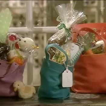 Felt Easter Basket Tote Bags