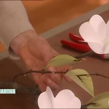 Folded Paper Dogwood Flowers