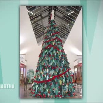 Giant Knitted Christmas Tree