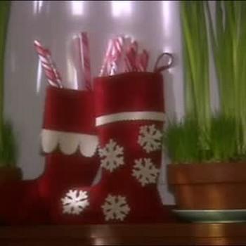 Making Christmas-Ready Felt Stockings