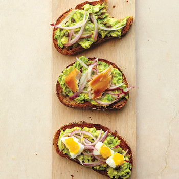 Avocado, Caper, and Pickled-Onion Toast