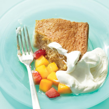 Tres Leches Cake with Rum-Fruit Topping