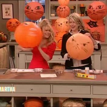 Paper Halloween Cat Lanterns