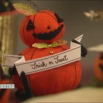 Trick or Treat Pumpkin Craft