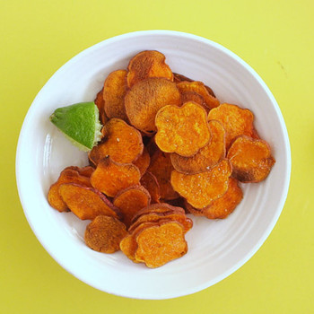 Simple Oven-Baked Sweet Potato Chips