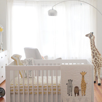 A Beautiful Zoo-Themed Nursery in Neutral Tones