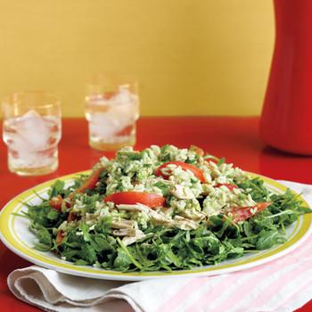 Arugula, Chicken, and Rice Salad