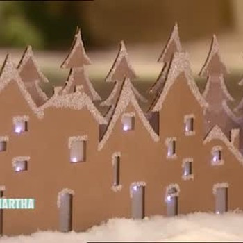 Cardboard Winter Village Scene