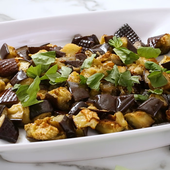 Roasted Eggplant with Basil Video