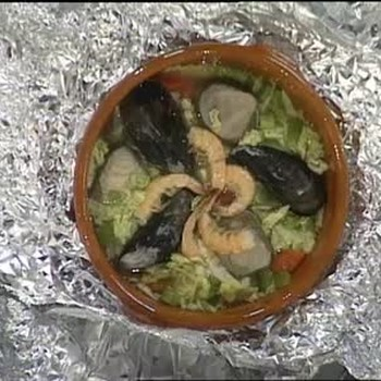 Foil-Wrapped Steamed Shellfish