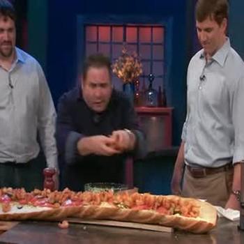 Giant Shrimp Poor Boy Sandwich
