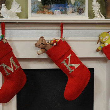 Glittered Monogrammed Stocking