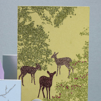 Glittered Clip-Art Deer Cards