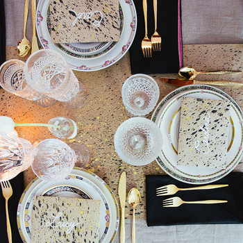 A Modern Tablescape Idea with Vintage Touches
