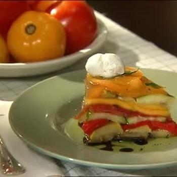 Vegetable Cake Dish with Mango