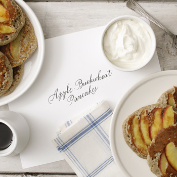 Hearty Buckwheat Pancakes with Apples EH