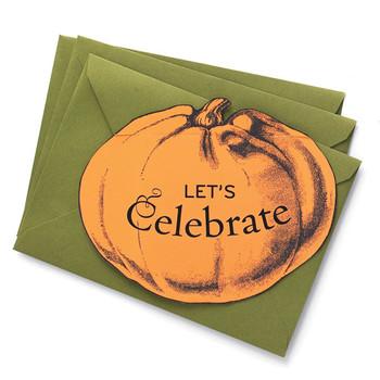 Pumpkin-Top Invitations