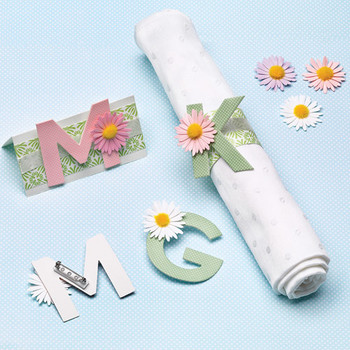 Chipboard Monogram Party Favors