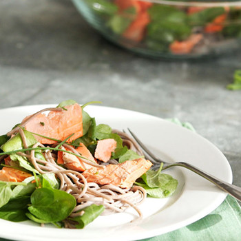 Soba with Salmon and Watercress