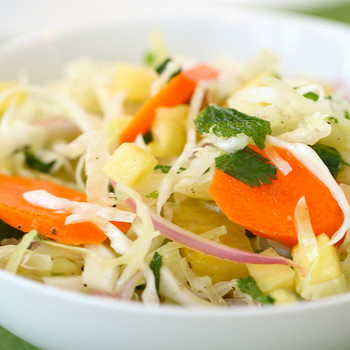 Spicy Slaw with Pineapple