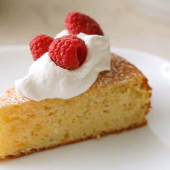 Simple Lemon Cake with Pomegranate Glaze