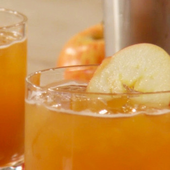Apple Cider and Bourbon Cocktail