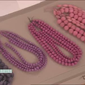 Colorful Wooden Beaded Necklaces