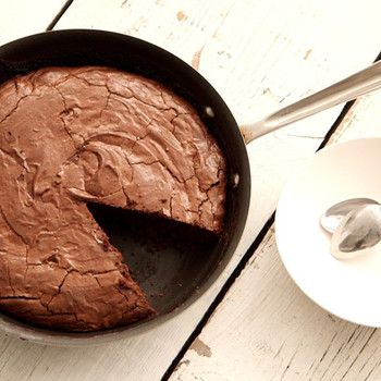 Double-Chocolate Skillet Brownie